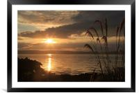 Sunset over Kintyre, Framed Mounted Print