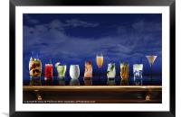 Cocktail selection, Framed Mounted Print