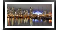 BC Place and Harbour, Framed Mounted Print