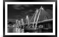 The Hungerford Bridge London, Framed Mounted Print