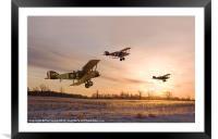 Dawn Patrol, Framed Mounted Print