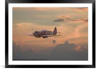 Sunset Spitfire, Framed Mounted Print