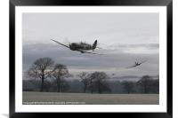 Spitfires - 'Rhubarb', Framed Mounted Print