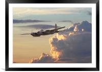 DH Mosquito -  Pathfinder, Framed Mounted Print