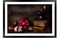 Garlic and Radishes, Framed Mounted Print