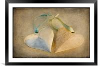 Textured Hearts, Framed Mounted Print