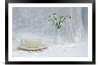 Snowdrops at Teatime, Framed Mounted Print