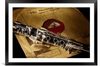 His Masters Voice and The Clarinet, Framed Mounted Print