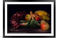 Fruit Still Life, Framed Mounted Print