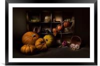 Halloween Still Life, Framed Mounted Print