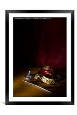 Red Masque, Framed Mounted Print