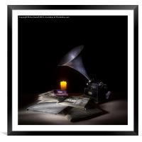The Phonograph 4 , Framed Mounted Print