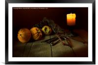 The Candle and a Bunch of Old Keys, Framed Mounted Print