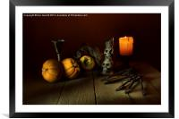 The Candle and a Bunch of Old Keys 2, Framed Mounted Print