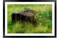 Victorian Dolls Pram in the Long Grass, Framed Mounted Print