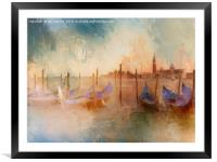 Venice Heat, Framed Mounted Print
