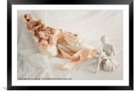 Roses for the Ballet Dancer, Framed Mounted Print