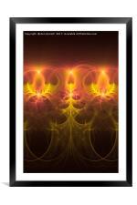 Fractal Fireworks, Framed Mounted Print