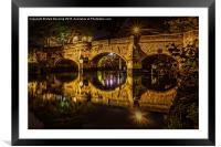 Bishops Bridge Norwich, Framed Mounted Print