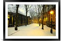 Winter Boulevard, Framed Mounted Print