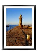 Lighthouse on East Pier, Framed Mounted Print