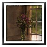 Vase with Flowers, Framed Mounted Print