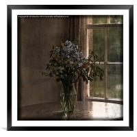By the Window, Framed Mounted Print