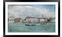 Beautiful Venice, Framed Mounted Print