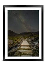 The Milky Way over Snowdonia, North Wales, Framed Mounted Print