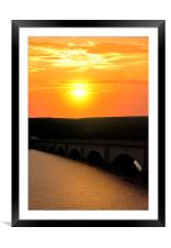 Ladybower dawn, Framed Mounted Print