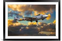 de Havilland Vampire T11, Framed Mounted Print