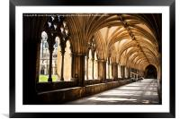 Norwich Cathedral Cloister Walks, Framed Mounted Print