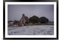 Goodnestone Church In Winter, Framed Mounted Print