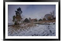 Boughton Church In Winter, Framed Mounted Print