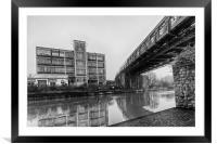 Powerhub and Bridge Maidstone, Framed Mounted Print