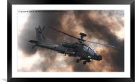 Apache Attack Helicopter, Framed Mounted Print