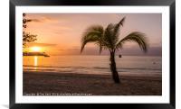 Jamaican Sunset, Framed Mounted Print