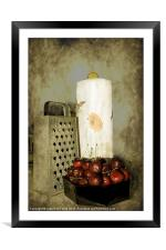 Just a Bowl of Cherries, Framed Mounted Print