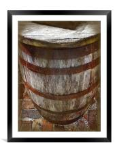 Looking Down the Barrel, Framed Mounted Print