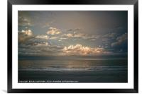 Sundown at the Shore, Framed Mounted Print
