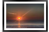 Breaking Dawn Daytona Beach, Framed Mounted Print
