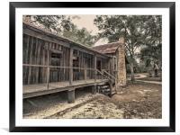 Vintage Florida Homestead, Framed Mounted Print