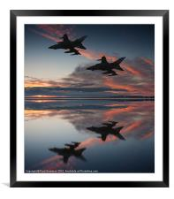 Tornado GR4 sunset, Framed Mounted Print