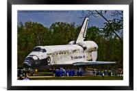 Shuttle Discovery, Framed Mounted Print