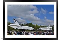 Enterprise And Discovery, Framed Mounted Print