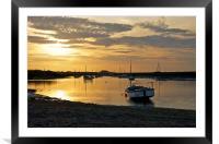 Golden Sunset at Burnham Overy Staithe, Framed Mounted Print