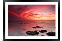 Red Sky at Night Hunstanton, Framed Mounted Print