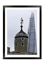 Twin Towers - Old & New, Framed Mounted Print