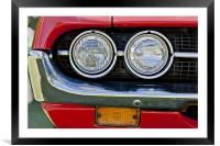 Car Headlamps, Framed Mounted Print