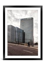 Barclays Building Canary Wharf London, Framed Mounted Print